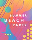 Unique artistic summer party card Stock Photos