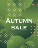 Unique autumn geometric background with gradient shapes. The abstract background is suitable for typographic products, web-design, and decoration of objects royalty free illustration