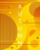 Unique autumn geometric background with gradient shapes. stock illustration