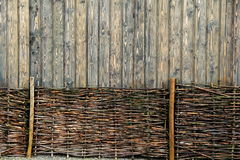 Unique background of wood fencing Royalty Free Stock Photography
