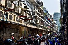 Backstreet in Bangkok Thailand stock photography