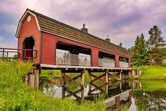 Unique Barn Bridge Walkway stock photography