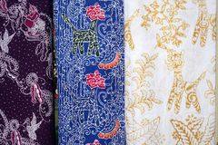 Batik fabric pattern form semarang, indonesia. Unique batik fabric from Semarang, Indonesia stock images