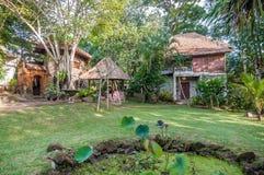 Unique and Beautiful exterior garden villa Stock Photos