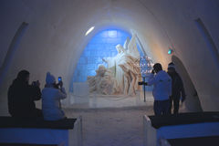 Free Unique Beautifully Decorated Snow Chapel At  LumiLinna Snow Castle In Kemi, Finland Royalty Free Stock Image - 86711866
