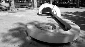Unique bench structure @ Bonfim Park royalty free stock photo