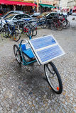 Unique bicycle with solar panel Stock Image