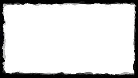 Unique Black and White border frame 03 Stock Photography