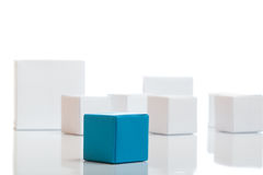 Unique blue box Royalty Free Stock Image