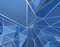 Unique Blue 3d abstract Stock Photo