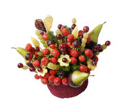 Unique bouquet made of fruits Stock Images