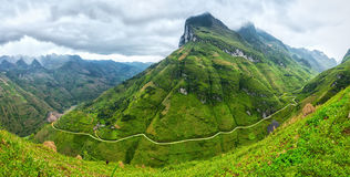 Unique bow Ma Pi Leng Pass, Ha Giang, Vietnam Royalty Free Stock Image