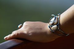 Unique bracelet and ring Stock Image