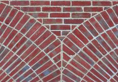 Unique Brick Pattern. Brick wall in a unique pattern, good for Stock Image