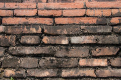 Unique brick wall. Burnt, antique wall made of bricks Royalty Free Stock Photos