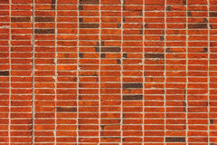 Unique brick wall texture, stacking method for bricklaying Royalty Free Stock Photos