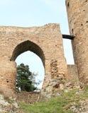 Unique bridge on Velhartice Castle Stock Images