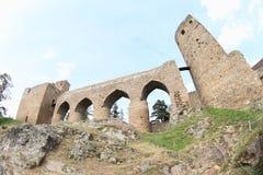 Unique bridge on Velhartice Castle Royalty Free Stock Photo