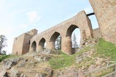 Unique bridge on Velhartice Castle Stock Image