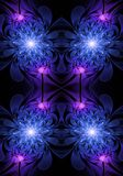Unique bright abstract artistic computer generated glowing roses fractals artwork background. Abstract artistic computer generated glowing roses fractals artwork royalty free illustration