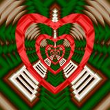 Pattern of hearts on the ornament. Vector. Royalty Free Stock Photo