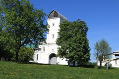 Moscow, Russia - May 11, 2018: Vodovzvodnaya Tower in the Museum-Reserve Kolomenskoye royalty free stock image