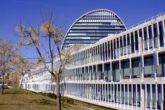 BBVA`s Headquarters in Las Tablas, Madrid royalty free stock photo