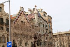 Unique buildings in Barcelona, Catalonia, Spain Royalty Free Stock Photography