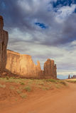 Unique Buttes in Monument Valley in Utah State, USA Royalty Free Stock Images
