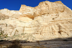 Unique canyon in the  Negev desert. Stock Photos