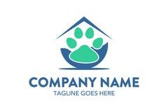Unique cat, dog, pt, petshop logo template. Simple shape. minimalist color. memorable Royalty Free Stock Photo