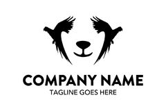Unique cat, dog, pt, petshop logo template Stock Photography