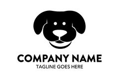 Unique cat, dog, pt, petshop logo template Stock Image
