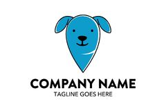 Unique cat, dog, pt, petshop logo template Stock Photo