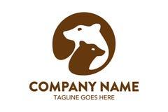Unique cat, dog, pt, petshop logo template. Simple shape. minimalist color. memorable Stock Photos
