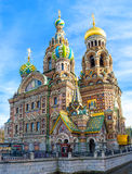 The unique Cathedral on Spilled Blood in St Petersburg. The medieval Romantic Nationalism of the Church of the Savior on Spilled Blood is very unusual for stock photography