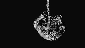 CG particle ink drop. vector illustration