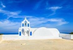 Unique chapel on Santorini Royalty Free Stock Images
