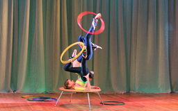 Unique children's acrobatics Royalty Free Stock Photography