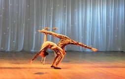 Unique children's acrobatics Stock Images