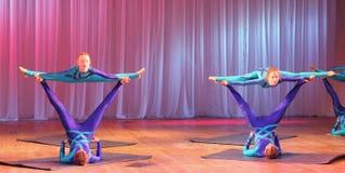 Unique children's acrobatics Royalty Free Stock Photo