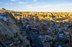 The unique city of Goreme in Cappadocia, Turkey stock image