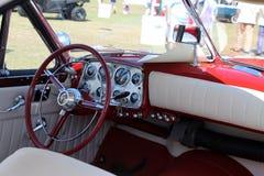 Unique classic American car cabin Stock Image