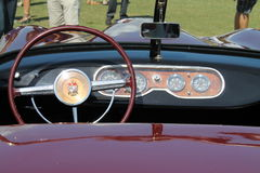 Unique classic sportscar interior Royalty Free Stock Images