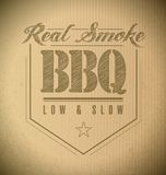 Unique and Classic text Barbeque Stamp stock illustration