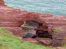 Unique cliffs in Arbroaht. Natural cliffs in Arbroath, Scotland, on the North Sea Royalty Free Stock Photo