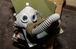 Unique collection of ex Soviet (USSR) gas masks.  Stock Photography