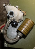Unique collection of ex Soviet (USSR) gas masks.  Royalty Free Stock Photos