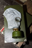 Unique collection of ex Soviet (USSR) gas masks Stock Image