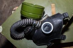 Unique collection of ex Soviet (USSR) gas masks Stock Images
